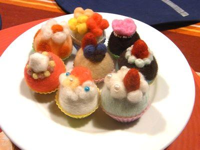 羊毛フェルト教室 東京 カップケーキマグネット.jpg
