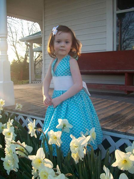 Custom Tiffany Blue  Halter Dress 2t-Size 6.jpeg