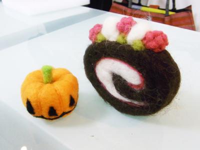 羊毛フェルト教室 スイーツ かぼちゃ.JPG